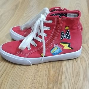 Disney Minnie mouse red high top tennis shoes